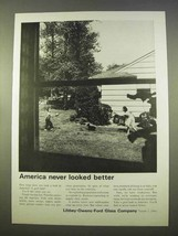 1963 Libbey-Owens-Ford Glass Ad - Never Better - $14.99