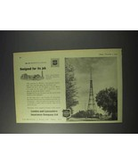 1959 London and Lancashire Insurance Ad - BBC Tower - $14.99