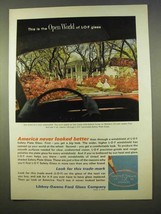 1963 Libbey-Owens-Ford Glass Ad - The Open World - $14.99