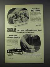 1959 Porter-Cable Belt Sander, Finishing Sander Ad - $14.99