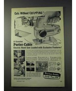 1959 Porter-Cable 152 Hand Saw Ad - Without Chipping - $14.99
