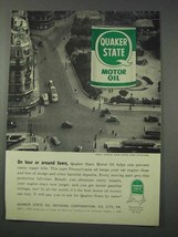 1959 Quaker State Motor Oil Ad - On Tour Around Town - $14.99
