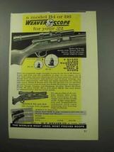 1959 Weaver B4 Scope Ad - Sharp Clear Target - $14.99