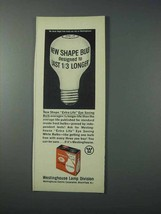 1963 Westinghouse Light Bulb Ad - New Shape - $14.99