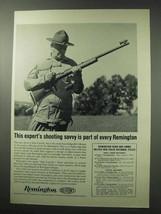 1962 Remington Firearms Ad - Expert's Shooting Savvy - $14.99