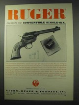 1962 Ruger Convertible Single-Six Revolver Ad - $14.99