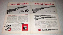 1966 Ruger .44 Magnum Carbine Ad - Its Own Class - $14.99