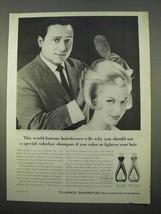 1963 Clariol Shampoo Ad - Enrico Caruso - $14.99