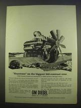 1963 GM Diesel Engines Ad - Mangla Dam, Pakistan - $14.99