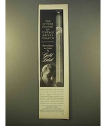 1963 Gold Label Barcelona-in-Cedar Cigar Ad - Havana - $14.99