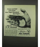 1963 High Standard Derringer Pistol Ad - Power-Packed - $14.99
