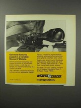 1970 Weaver V Model Scopes Ad - More Than You Expect - $14.99