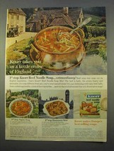 1963 Knorr Beef Noodle Soup Ad - Kettle Cruise - $14.99
