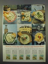 1963 Knorr Soup Mix Ad - Serving Dips Aglow - $14.99