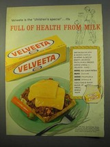 1963 Kraft Velveeta Cheese Ad, Full of Health from Milk - $14.99