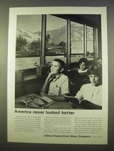 1963 Libbey-Owens-Ford Glass Ad - America Never Better - $14.99