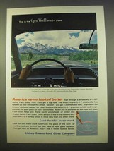 1963 Libbey-Owens-Ford Glass Ad - Open World - $14.99