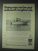 1973 Quaker State Duplex HD Outboard Motor Oil Ad - $14.99