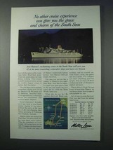 1963 Matson Lines Cruise Ad - Grace and Charm - $14.99