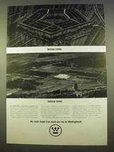 1963 Westinghouse Electric Corporation Ad - Defense - $14.99