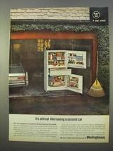 1963 Westinghouse Center Drawer Refrigerator Ad - $14.99