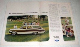 1964 Ford Country Squire Wagon Ad - More Brawn - $14.99