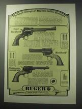 1964 Ruger Ad - Super Blackhawk, Blackhawk, Single-Six - $14.99