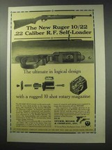 1964 Ruger 10/22 .22 Caliber R.F. Self-Loader Rifle Ad - $14.99