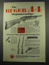 1966 Ruger .44 Magnum Carbine Ad - Own Class - $14.99