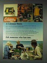 1973 Coleman Stove Ad - Ask Someone Who Has One - $14.99