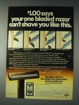 1973 Gillette Trac II Razor Ad - Shave Like This - $14.99