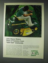 1973 John Deere 57 Riding Lawn Mower Ad - Freedom - $14.99