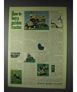 1973 Sperry New Holland Garden Tractor Ad - How to Buy - $14.99