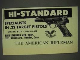1950 Hi-Standard .22 Target Pistol Ad - Specialists - $14.99