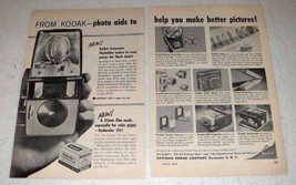 1958 Kodak Ad - Generator Flashholder, Kodacolor Film - $14.99