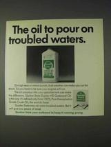 1969 Quaker State Duplex HD Outboard Motor Oil Ad - $14.99