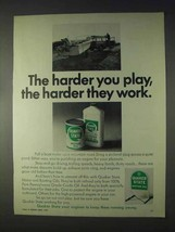 1969 Quaker State Motor Oil Ad - Harder You Play - $14.99