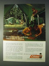 1970 Coleman Oasis Tent Ad - Built Like a Family Room - $14.99
