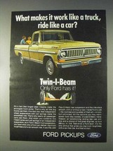 1970 Ford Pickup Truck Ad - Ride Like A Car - $14.99
