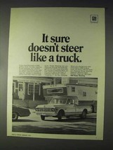 1970 GM Power Steering Ad - Doesn't Steer Like a Truck - $14.99