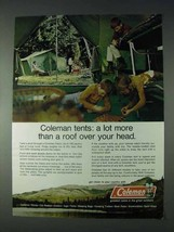 1972 Coleman Tents Ad - More Than A Roof Over Your Head - $14.99