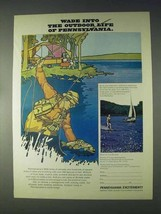 1970 Pennsylvania Tourism Ad - Wade Into Outdoor Life - $14.99