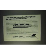 1972 Starcraft Boat Ad - More You Know About Fishing - $14.99