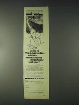 1970 Wisconsin Tourism Ad - 65,000 Muskies Caught - $14.99