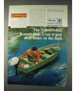 1971 Sears Ted Williams Gamefisher Boat Ad - Won't Sink - $14.99
