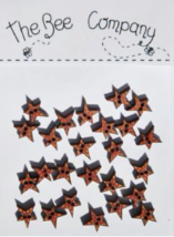 Red Mini Star Buttons 25pcs wooden button cross stitch The Bee Company  - $4.00