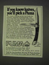 1972 Puma Game Warden #16-971 Knife Ad - $14.99