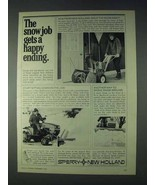 1972 Sperry New Holland Snow Removers Ad - Happy - $14.99