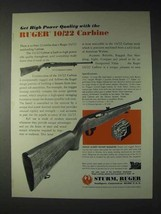1973 Ruger 10/22 Carbine Ad - High Power Quality - $14.99