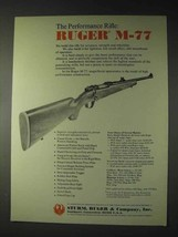 1973 Ruger M-77 Ad - The Performance Rifle - $14.99